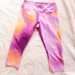 Nike Golf Dri-fit Pink & Orange Capri Pants